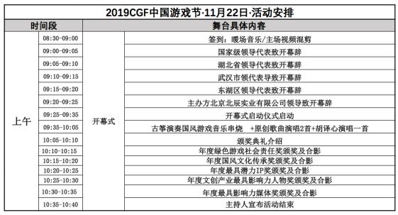 先睹為快 | 11月22-24日2019 CGF中國游戲節展會現場活動首次曝光!